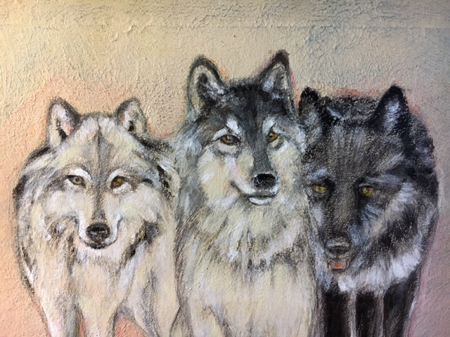 Artwork of three wolves by Nanda Currant